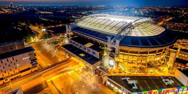 FOOTBALL STADIUM SCORES WITH NISSAN LEAF BATTERIES